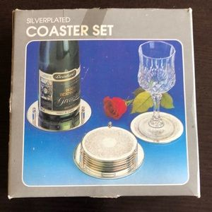 Regal Silver silver plated coaster set-new in box